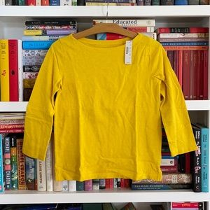 J. Crew Golden Sunflower Yellow Slub Tee Knit